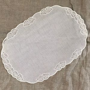 Other - 10 plastic placemats look like embroidered fabric